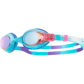 TYR Swimple Tie Dye Mirrored Goggles Kinderen, purple/pink
